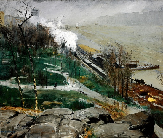 'Rain On The River' George Bellows