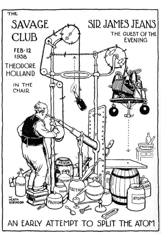 'Savage Club Invitation' Heath Robinson
